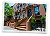 Shared apartments in brownstone building in Brooklyn